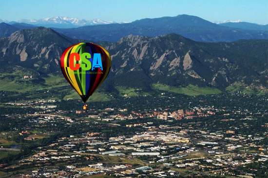 October 1 to 3, 2012, founders and leaders of the carsharing industry are 'coming up' to Boulder, Colorado to continue to evolve the worldwide carshare marketplace toward a more sustainable future in transportation. (Photo compliments of Fair Winds Hot Air Balloon Flights)